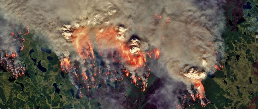 Zombie wildfires are blazing through the Arctic, causing record burning