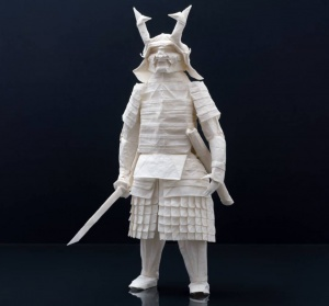 Finnish Origami Artist Creates Incredibly Detailed Samurai Warriors From a Single Sheet of Paper