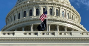 'Mysterious' black flag flies on Capitol Hill under US flag