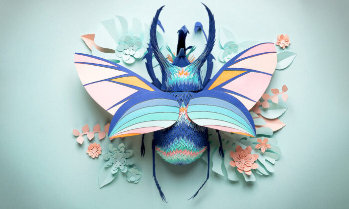 UK Artist Hand-Cuts Paper Sculptures Inspired by Nature That Will Take Your Breath Away