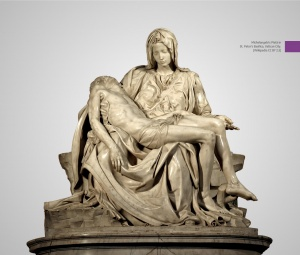 What made The Pietà by Michelangelo one of the finest sculptural masterpieces in the world