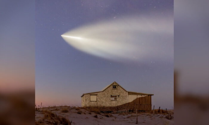 Photographer Scoping the Stars Accidentally Captures Space Rocket Zooming Through Sky