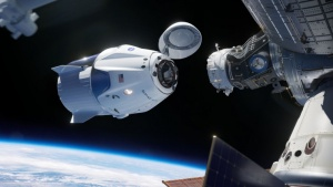 Near collision between SpaceX craft and unidentified flying object.